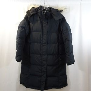 LL BEAN Black Puffer Quilted Down Filled Coat